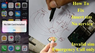 Insert sim Card Problem SOLUTION /ALL Mobile Insert SIM/Emergency call only/No Service Full Tutorial