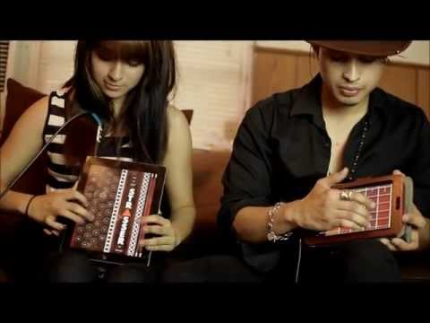 Tablet Play Accordion and Guitar