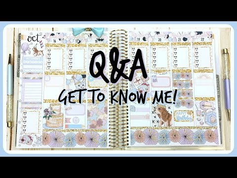 Plan With Me! Q&A: Get to Know Me | Erin Condren Planner