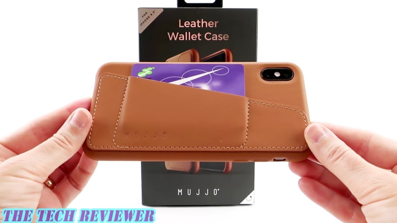 pretty nice 3d068 703b0 Mujjo Full Leather Wallet for iPhone Xs Max: Full Grain Leather Card Case *  Stylish European Design!