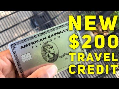 American Express Platinum: NEW $200 Travel Credit!