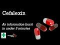 Cefalexin information burst