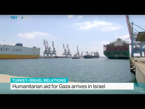 Humanitarian aid for Gaza arrives in Israel