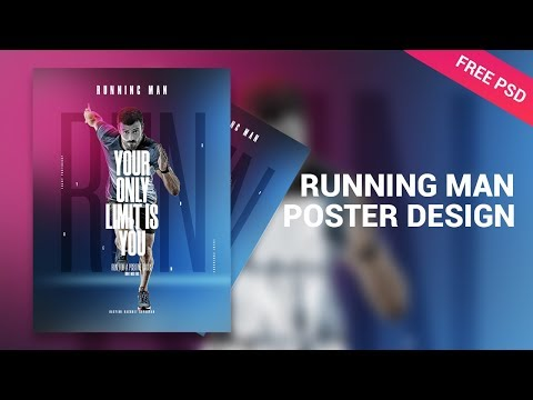 Running Man Morganite Poster Design - Tutorial Photoshop CC 2019 thumbnail