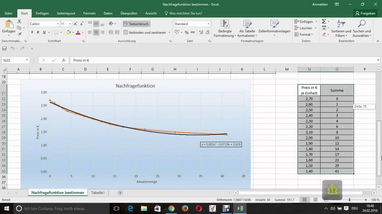 Nachragefunktion über Excel Erstellen Youtube