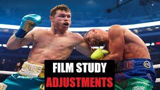 Canelo Alvarez vs Billy Joe Saunders - Film Study: ADJUSTMENTS