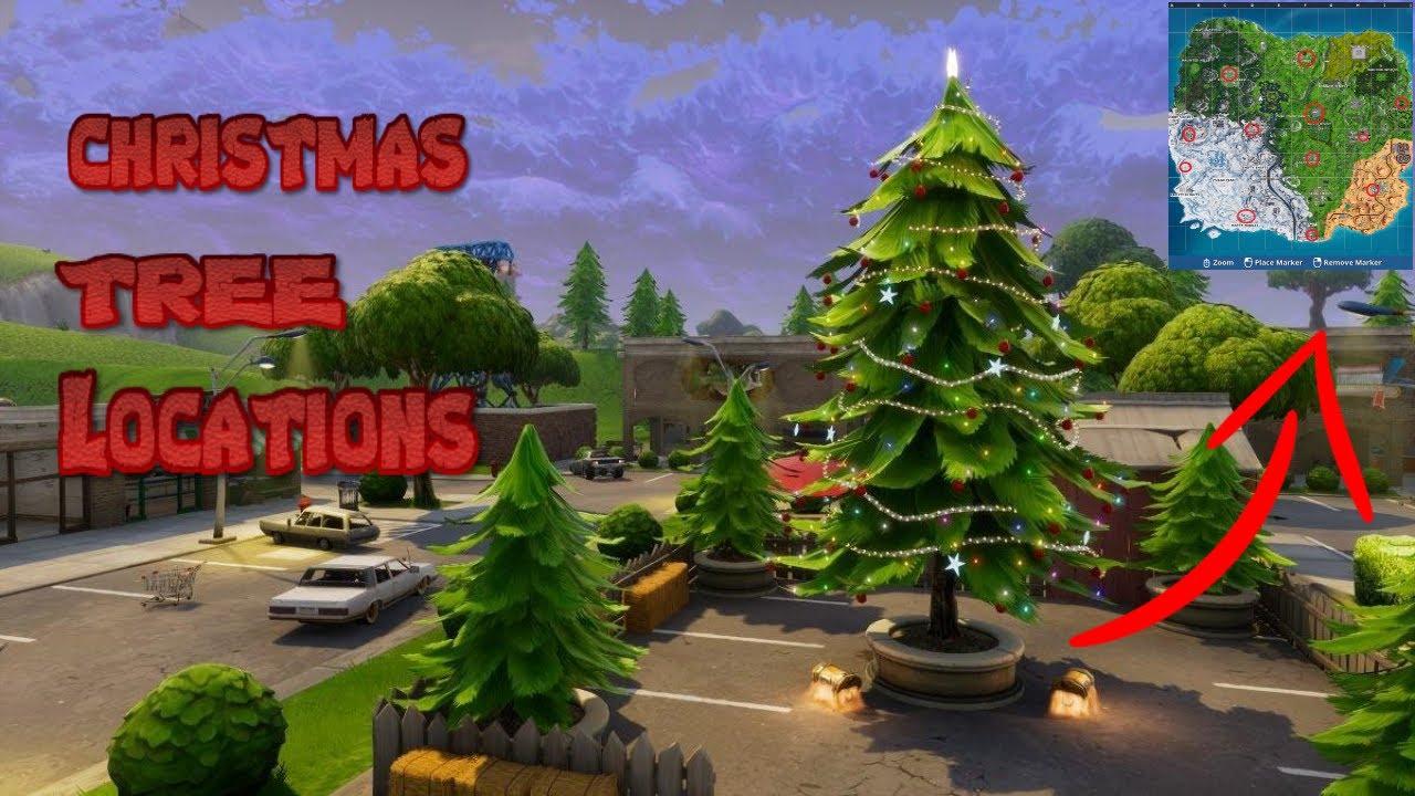 ALL CHRISTMAS TREE LOCATIONS IN FORTNITE SEASON 7 ! - YouTube