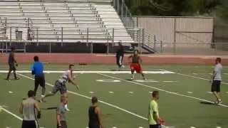 San Jose State Football Camp.( QB Tyrone Williams jr) 6/24/14