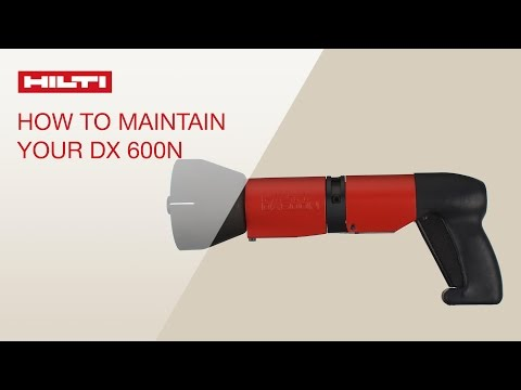 HOW TO clean and maintain your Hilti powder-actuated tool DX 600N