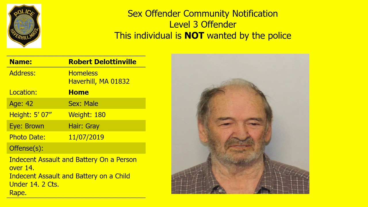 level 3 sex offender weymouth ma