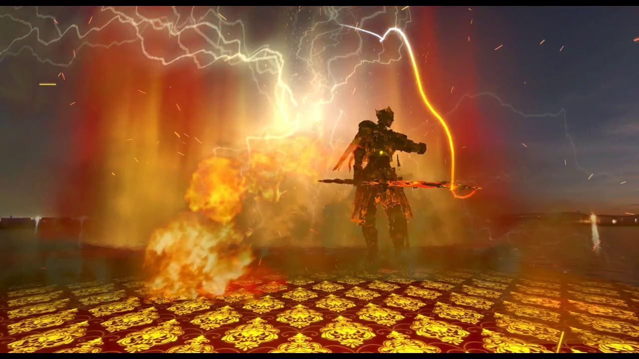 VRChat Dark Souls Dance to Dramaturgy with Custom Particles