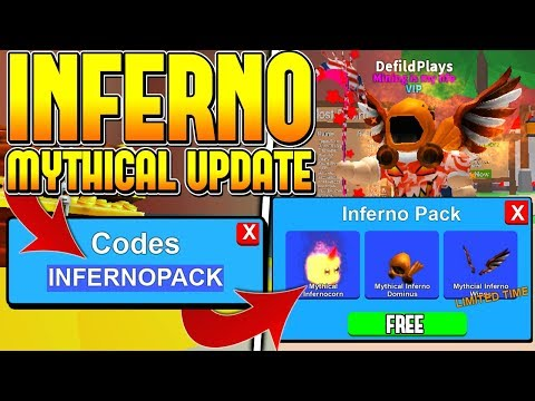 5 MYTHICAL INFERNO PACK CODES IN ROBLOX MINING SIMULATOR! *FREE MYTHICALS*