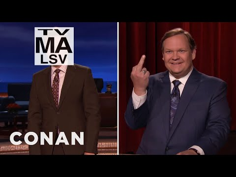 Conan O'Brien on his show's first TV-MA rating last night