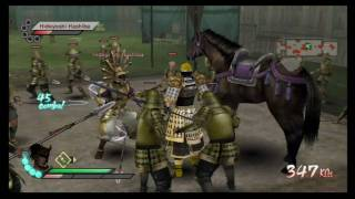 Samurai Warriors 3 Nintendo Wii: Custom Character Free Mode Gameplay 3