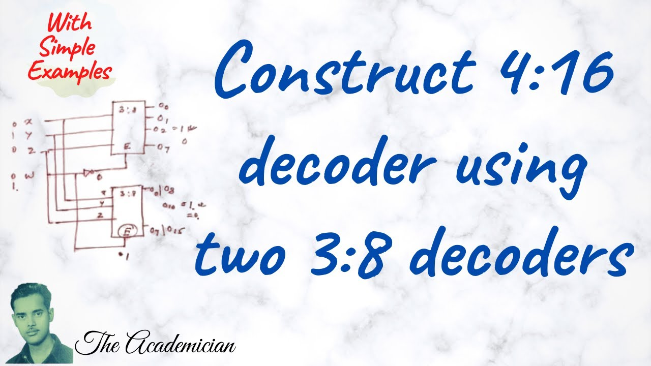 logic diagram for 3 8 decoder 29 construct 4 16 decoder using two 3 8 decoders youtube  29 construct 4 16 decoder using two 3