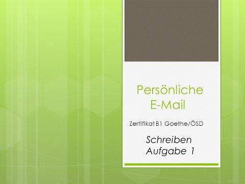 Zertifikat B1 Goethe ÖSD E-Mail schreiben