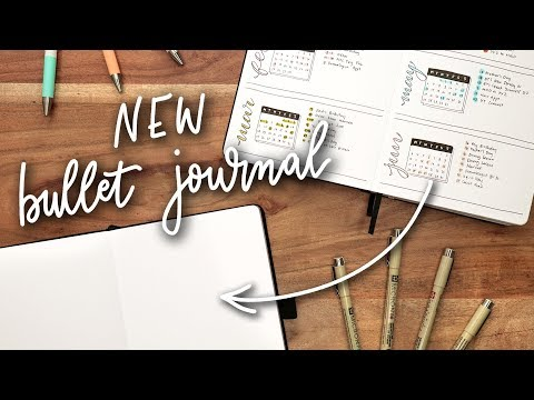 Starting a NEW Bullet Journal!