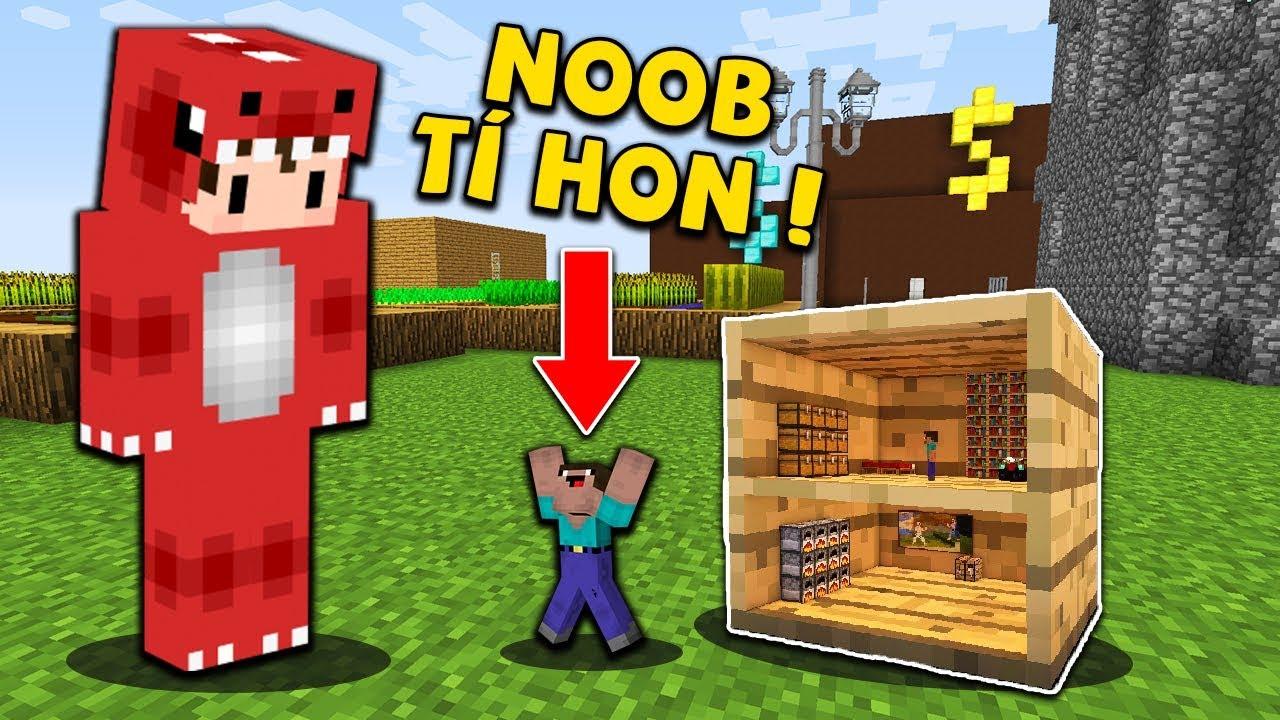 Rex Và Noob Thử Thách Sống Trong Căn Nhà Tí Hon Trong Minecraft !!