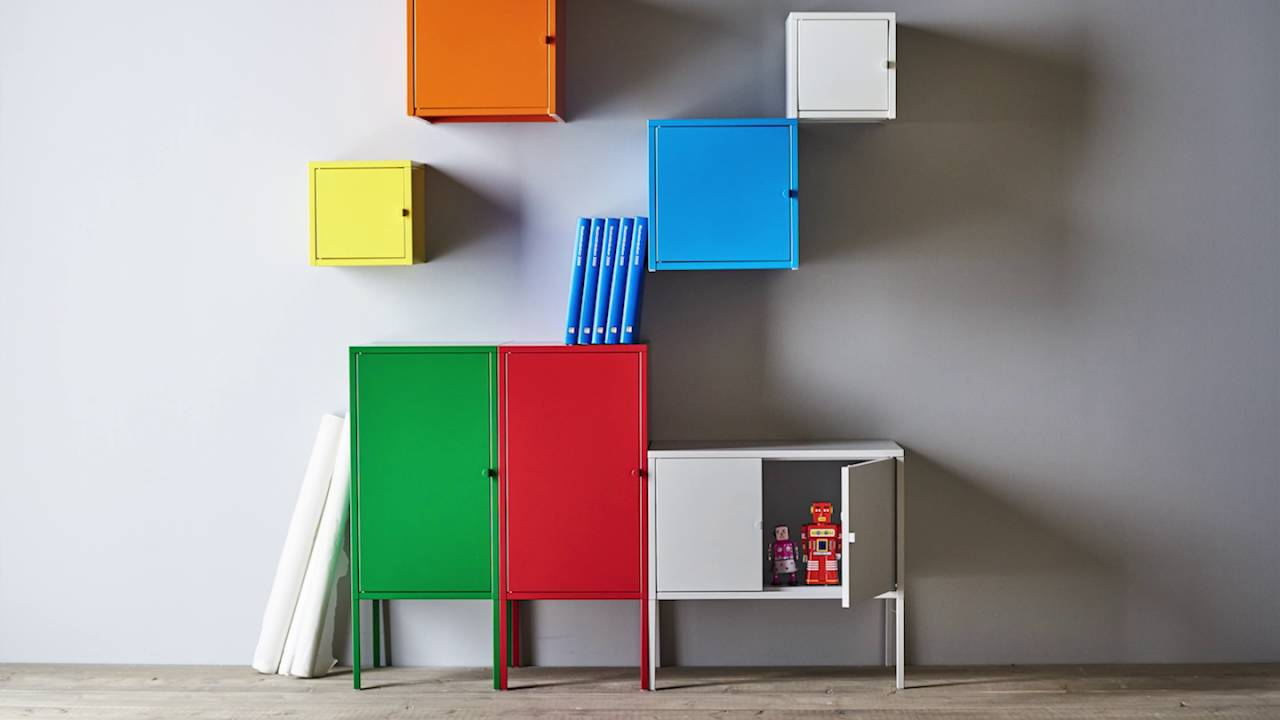 Ikea Uae Lixhult Cabinets - Create More Option For Storage - Youtube