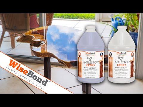 WiseBond™ Bar & Table Top Epoxy - Indian Rosewood Flood Coat