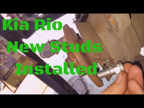 Kia Rio Wheel Stud Replacement – How To