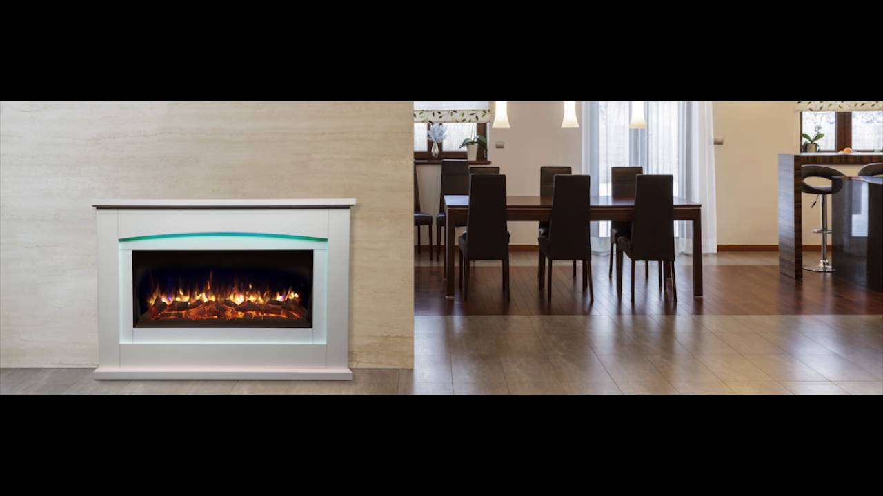 danby fireplace suite with realistic flame effect u0026 12 colour mood