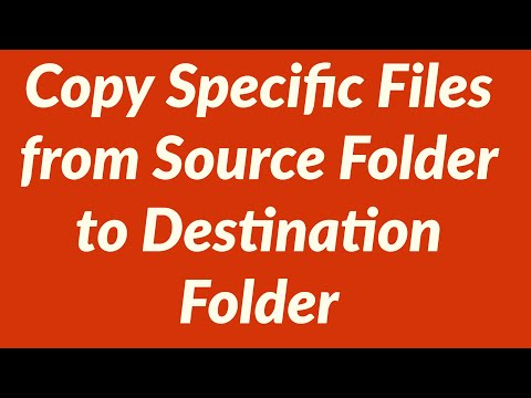 Copy Specific Files or All Files from Source Folder to Destination Folder  with VBA