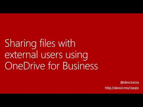 Sharing files with external users using OneDrive for Business
