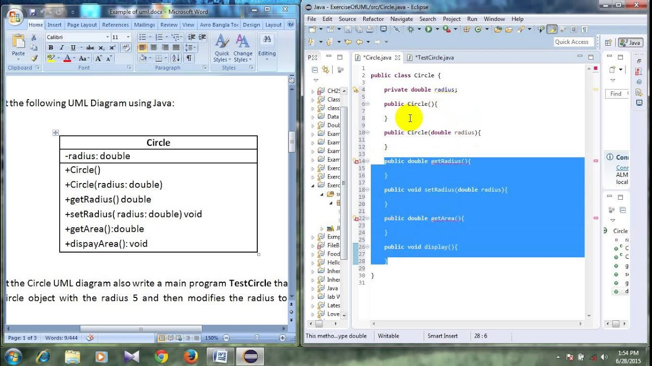 #12 Basic java tutorial in bangla( UML Class Diagram 02 ...