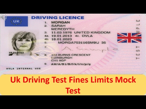UK Driving Test -  Fines Limits Mock Test