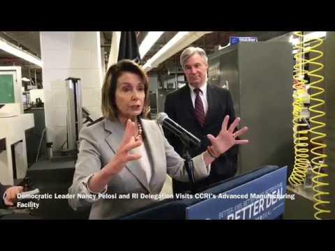 Nancy Pelosi tours CCRI in RI