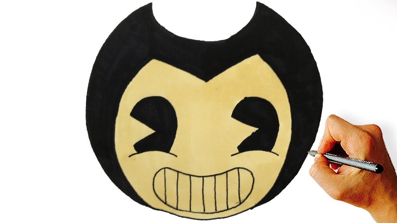Very Easy! How to draw Bendy head from Bendy and the Ink ...