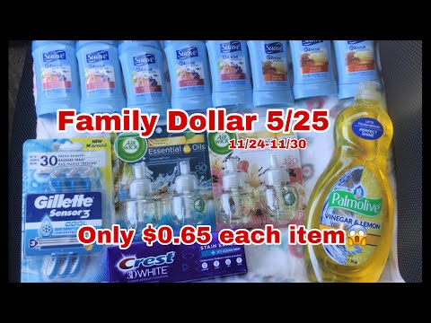 Family Dollar 5/25 Deal | 13 Items $0.65 Cents Each 😱🙌 | English & Spanish