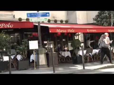 restaurant italien marco polo paris 6e youtube. Black Bedroom Furniture Sets. Home Design Ideas