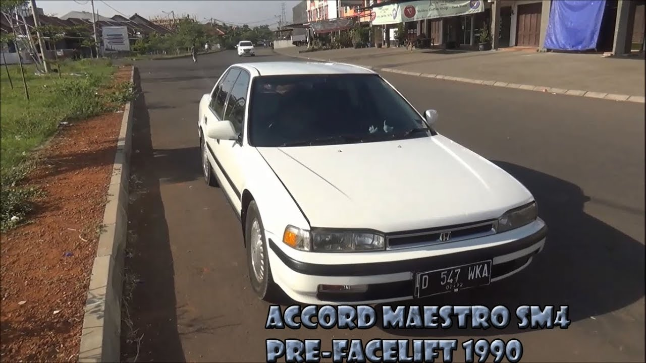 review honda accord maestro sm4 mt thn 1990 - youtube