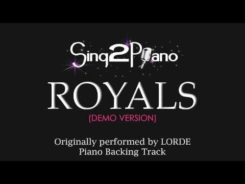 Royals (Piano Karaoke Version) Lorde