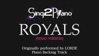 Royals (Piano Karaoke Version) Lorde