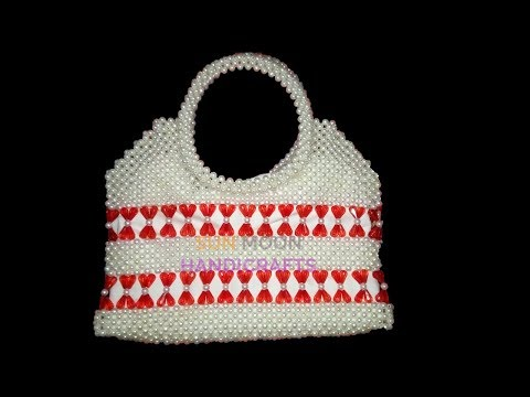 How to make beaded bag/ new party bag(part-1)/beaded bag