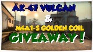 ak 47 vulcan m4a1 s golden coil giveaway