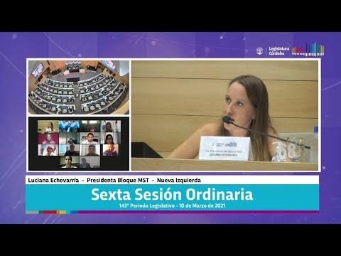 Sexta Sesión Ordinaria 143 Periodo Legislativo - 10 de Marzo 2021