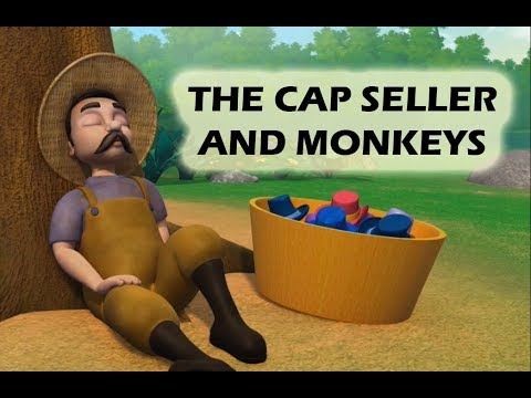 The Cap Seller & Monkey | English Moral Based Animated Story for Kids | WIK Entertainment Presents