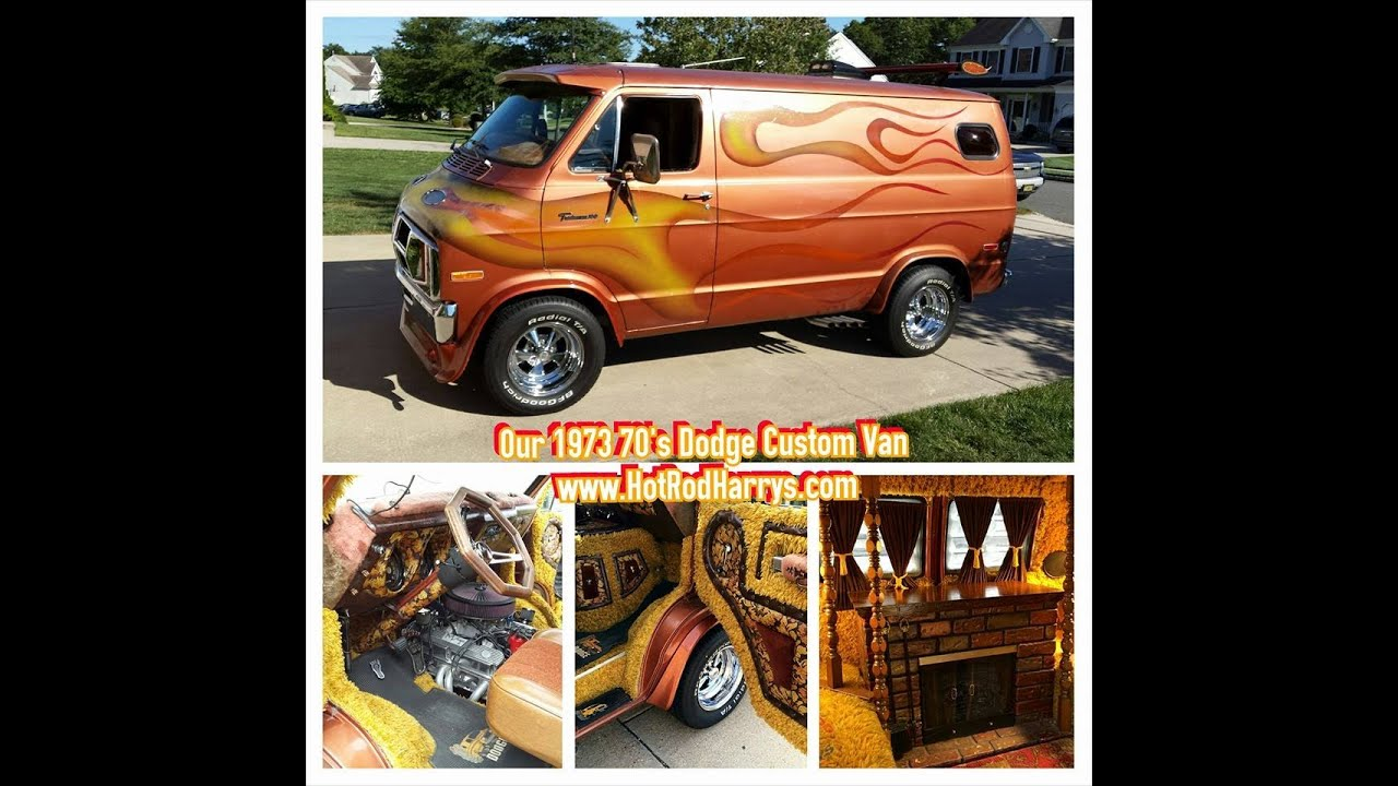 HotRodHarrys 1973 Custom Dodge 70s Van With Flames SOLD