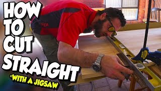 How to cut straight (when you only have a jigsaw)