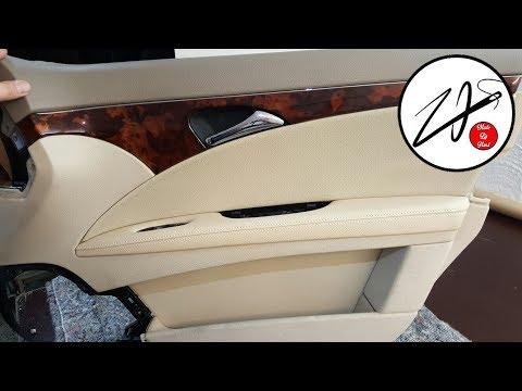 видео: Перетяжка салона автомобиля, своими руками. Ручка дверной панели, карты mercedes e klasse