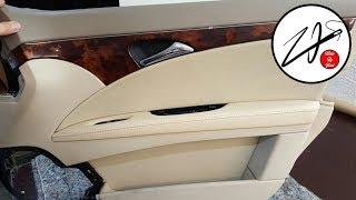 Керме есіктің панельдер, подлокотника Mercedes E-Klasse. Керме және жөндеу салон автомобиля