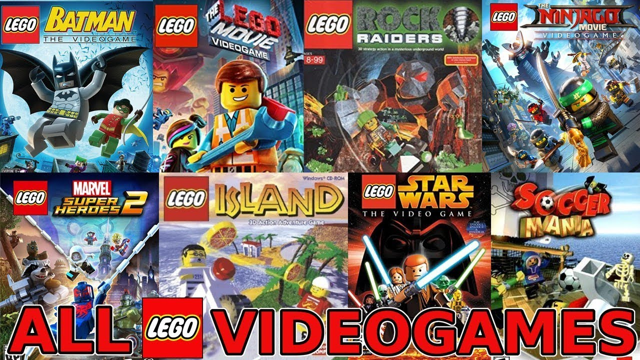 All Lego Video Games Ever Made 1997 2018 Youtube