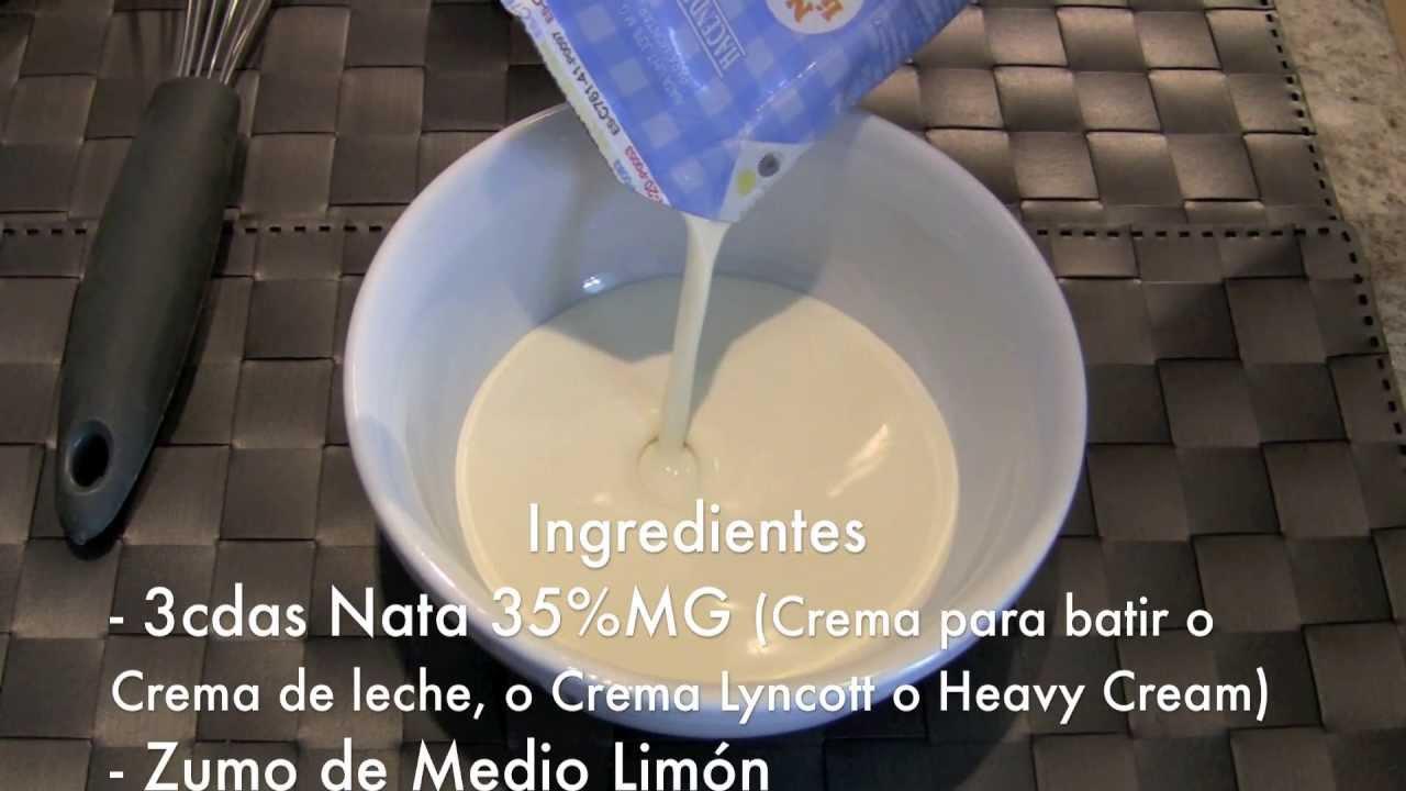 Cmo hacer crema agria casera fcil y rpido  Sour Cream