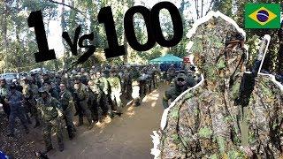 Pro Airsoft Player Brasil VS 100 Enemies | FUZILEIRO SNIPER AIRSOFT | SVD DRAGUNOV