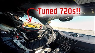 AIRPORT RACING: Anti-Lag 1300 Horsepower Porsche GT2RS DESTROYS Mclaren 720s!!