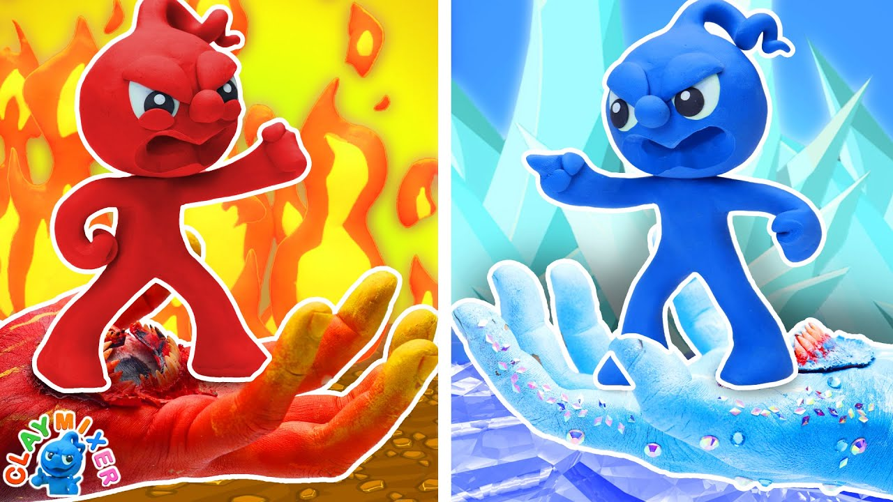 Download Tiny's In a Battle of Fire vs Ice - Hot vs Cold Challenge Stop Motion Animation Short Film